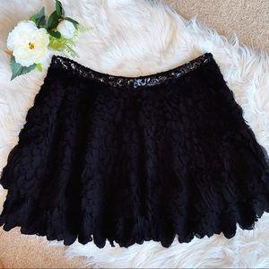 Zara Black Formal Mini Skirt